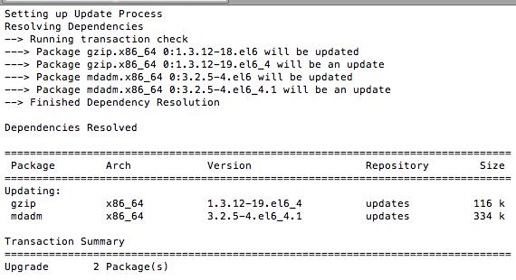 Update CentOS VPS via SSH